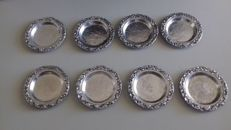 Lot of silver coasters, silver title 800/1000