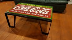 Coca Cola table of enamel - rare production from the 1980s