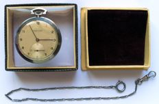 Ulysse Nardin Locle Swiss - rare large slim pocket watch  - circa 1945