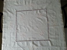 Beautiful Hand embroidered linen tablecloth.