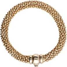 18 kt - Yellow gold popcorn switch bracelet - length: 21 cm