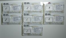 Lot of 7 rose diamonds totalling 1.31 ct.