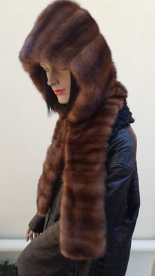 Mink fur hood/hat - Made in Italy