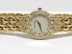 Bucherer - ladies 18k gold & diamond wristwatch