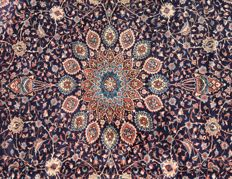 Top Persian Tabriz Rug XL Carpet 375x280cm