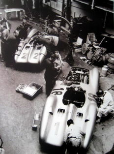 """Silver Arrows Streamliners"" - Mercedes-Benz W196 - Fangio & Kling - French Grand Prix Reims 1954"
