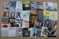 nice lot of 33 singles by 80's new wave/indie and cult-bands/artists