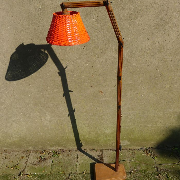 Unknown designer - Wooden, five-hinge floor lamp