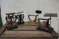 Four French letter scales - Working - France - 1920-50-60