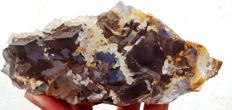 Perfect Fluorite crystals with Calcite - 165 x 95 x 55mm - 1100 gm