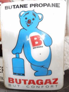 Illuminated advertising sign of Butane circa 1960