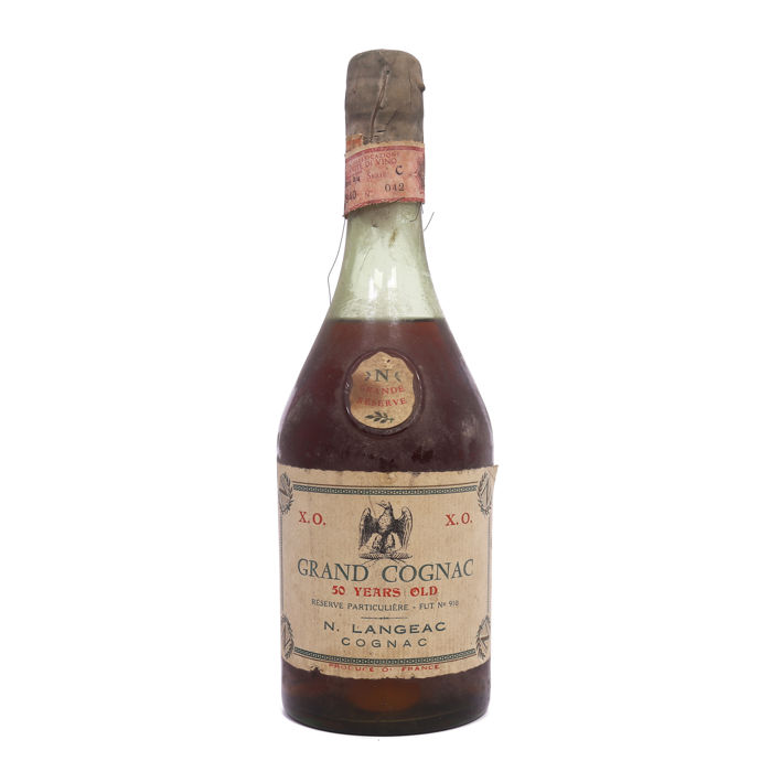 N. Langeac XO cognac bottle from the 1960s - 50 years old