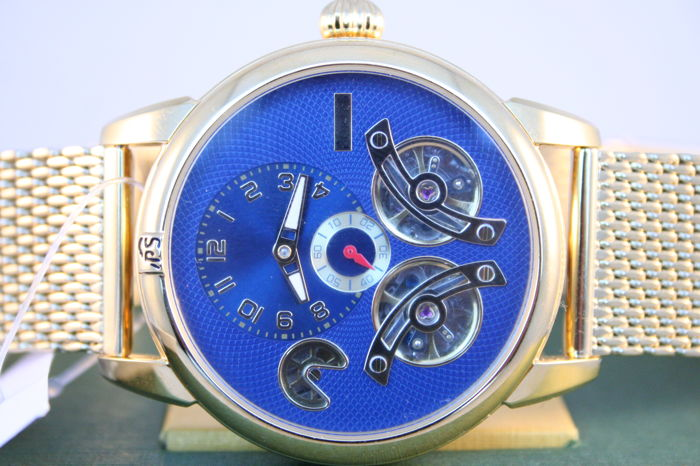portas eilenburg gold blue men 39 s wristwatch catawiki. Black Bedroom Furniture Sets. Home Design Ideas