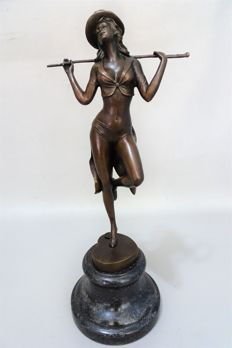 Statue; After Affortunato Gory ( 1895 - 1925 ) - Young woman tap dancing