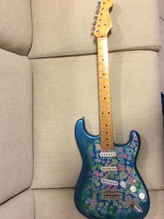 Fender Stratocaster 'Blue Flower' Made in Japan del 1993/1994 Special edition con custodia rigida serial number p092074