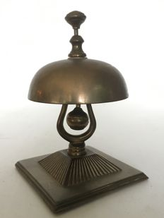 Antique bronze hotel bell (counter bell) - 19th century - France