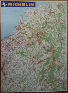 Michelin - road map Western Europe (West Germany, Belgium, Netherlands, North-East France ) - 1970