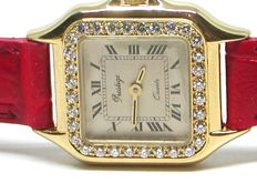 Prestige de Geneve - ladies 18k gold & diamond wristwatch