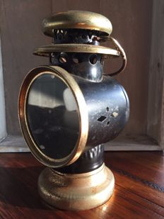 Bronze Antique Carriage lamp Intact, Table model for candles, Ca. 1849, UK