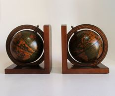 Large Italian globes bookends