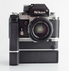 Nikon F2 with MD-2 motor drive, MB-1 battery pack and Nikkor SC Auto 1:1.4 f=50mm