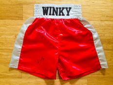 Winky Wright /  Original Signed White Boxing Pants - with Certificate of Authenticity JSA