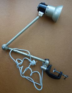 Unknown designer - industrial desk lamp with clamp