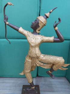 Bronze statue of Prince Rama with bow - Thailand - second half 20th century