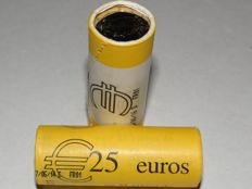 Monaco - 1 Euro 2014 + 2016, Albert II (50 pieces), in view rolls.