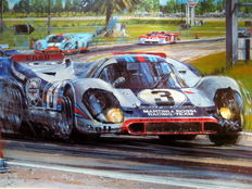 """The 12 Hours of Sebring 1971"" - Martini Porsche 917 #3 - Sebring 20 March 1971 - Signed by Drivers : Larousse/Elfort"