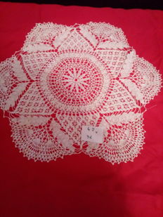 Lot of handmade doilies