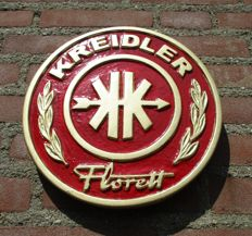 Advertising sign for Kreidler - Florett circa 1960 round model.