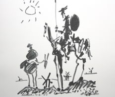 Picasso (after) - Don Quijote y Sancho Panza