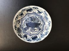 Blue white porcelain plate - China - 16th century (Ming period)
