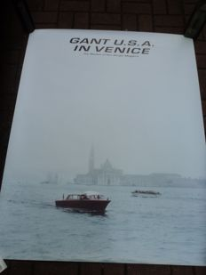 """Gant U.S.A. in Venice,"" size: approx. 125 cm x 100 cm, probably 1990s"