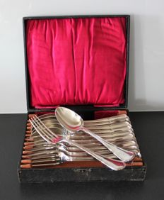 Ercuis - Silver plated cutlery set - France