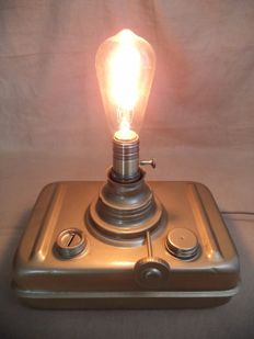 Industrial steampunk table lamp - second half of the 20th century - the Netherlands