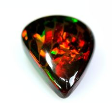 Black honey multi-coloured  opal - 5.52 ct