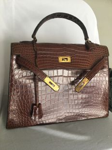 Hermès Paris - Kelly 32 - Crocodile skin handbag