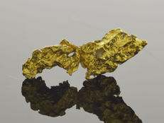 Natural Gold Nugget - 19.3 x 7.6 x 4.9 mm - 10.25 ct