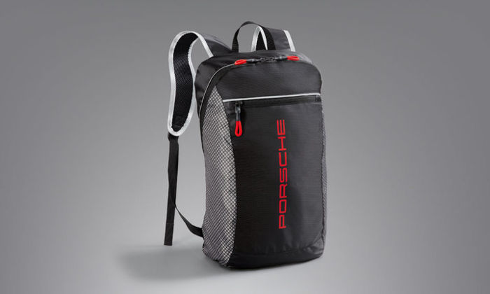 Porsche Backpack - Racing - 100% polyester - In grey/black/red