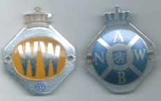 ANWB & WW car Emblems 6.5 x 5.5 Centimetres