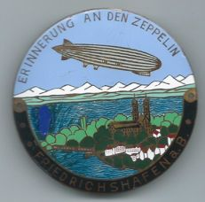 Zeppelin Car Emblem from the +/- 1940s nicely enamelled - Zeppelin Friedrichshafen