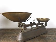 Old cast iron balance scales