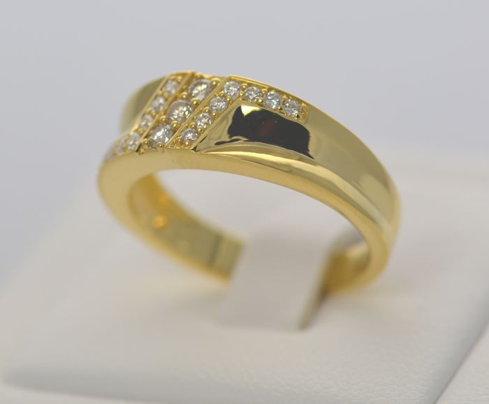 14k Gold 0.25ct Diamond Ring ,Size M , 13 , 53.