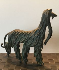 Afghan Hound - Abstract Bronze Sculpture