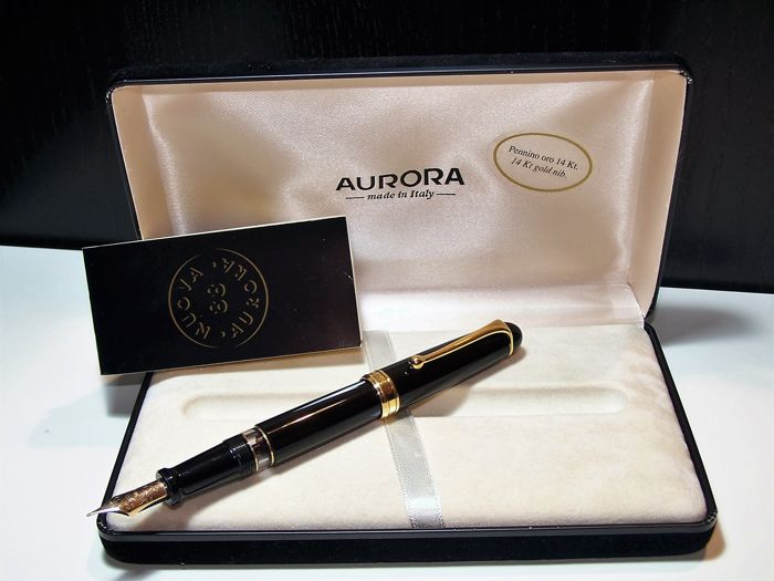 Aurora 88 BIG collectible fountain pen with 14 kt gold nib, complete with box and papers