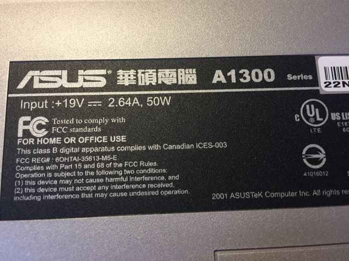 DOWNLOAD DRIVERS: ASUS A1300 SERIES