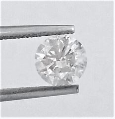 Diamond of  1.34 carat , E color , I1 clarity , No Black Spot , Big AIG certificate + Laser Inscription on Girdle , 3 x EX , None.