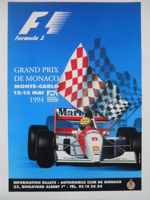 Original poster of the grand prix of Monaco from 12 to 15 May 1994